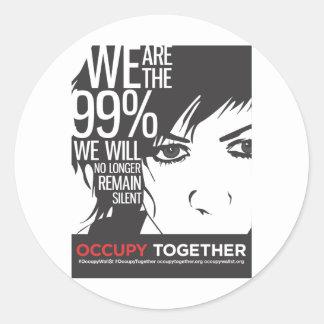 OccupyTogether_poster01 Round Sticker