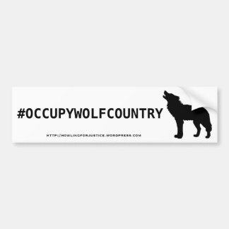 #OCCUPYWOLFCOUNTRY BUMPER STICKERS