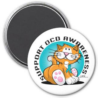 OCD Cat 7.5 Cm Round Magnet