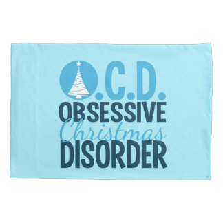 OCD Christmas (blue) Pillowcase