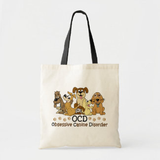 OCD Obsessive Canine Disorder Budget Tote Bag