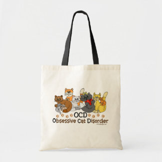OCD Obsessive Cat Disorder Budget Tote Bag