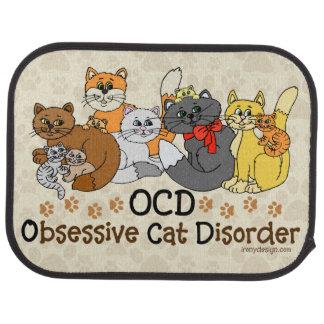OCD Obsessive Cat Disorder Floor Mat