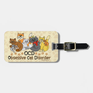 OCD Obsessive Cat Disorder Personalized Luggage Tags
