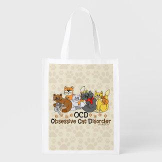 OCD Obsessive Cat Disorder Grocery Bag