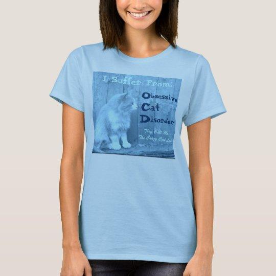 OCD: Obsessive Cat Disorder Shirt - Blue