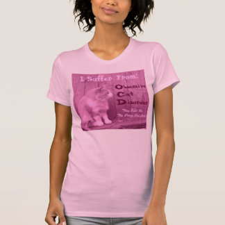 OCD: Obsessive Cat Disorder Shirt -Pink