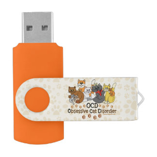 OCD Obsessive Cat Disorder USB Flash Drive