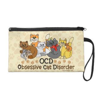 OCD Obsessive Cat Disorder Wristlet