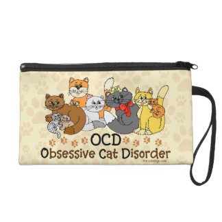OCD Obsessive Cat Disorder Wristlet Purse