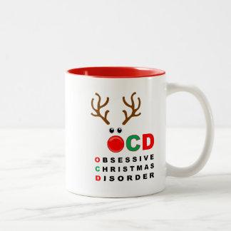 OCD Obsessive Christmas Disorder funny Holiday mug