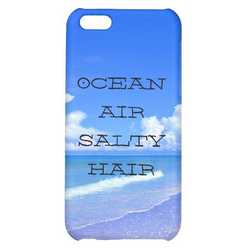 Ocean Air Salty Hair Case For iPhone 5C