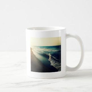 Ocean and Beach at Dusk Basic White Mug