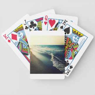 Ocean and Beach at Dusk Bicycle Playing Cards