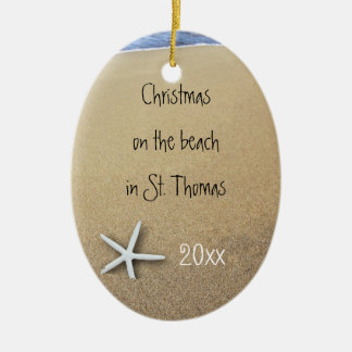 Ocean and Beach Couples Tropical Keepsake Ornament