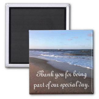 Ocean and Beach Theme Square Magnet