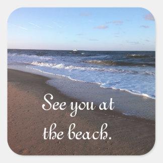 Ocean and Beach Theme Sticker
