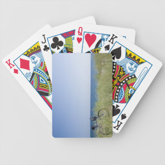 Ocean and horizon with clear blue sky bicycle playing cards
