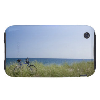 Ocean and horizon with clear blue sky tough iPhone 3 covers