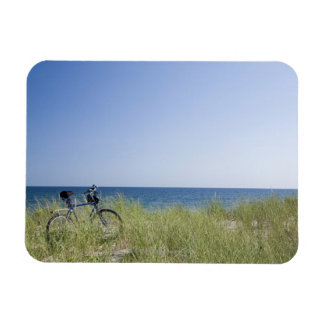 Ocean and horizon with clear blue sky magnet