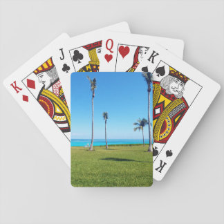 Ocean and Palm Landscape Playing Cards