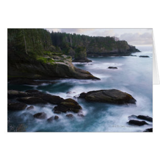 Ocean and rocky shore of remote area 2 card