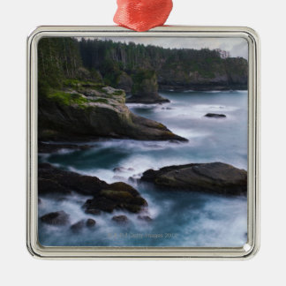 Ocean and rocky shore of remote area 2 christmas ornament