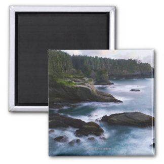 Ocean and rocky shore of remote area 2 fridge magnet
