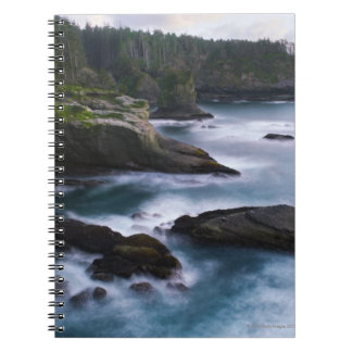 Ocean and rocky shore of remote area 2 notebooks