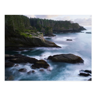 Ocean and rocky shore of remote area 2 postcard