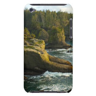 Ocean and rocky shore of remote area barely there iPod case