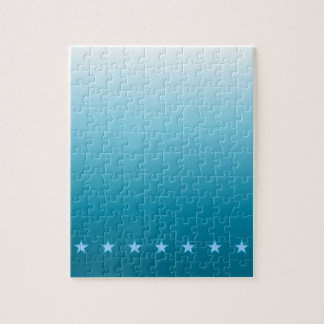 Ocean and Stars Ombre Jigsaw Puzzle
