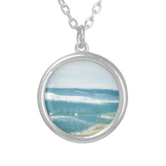 OCEAN AND US SILVER PLATED NECKLACE