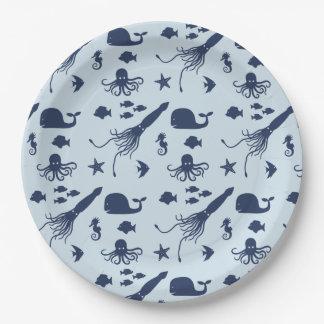 Ocean animal paper plates
