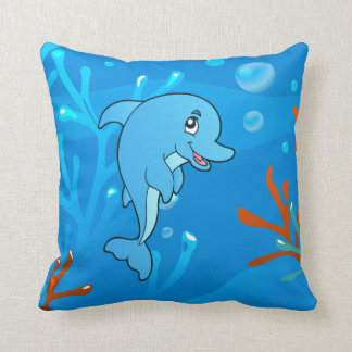 Ocean Aquatic Cute Dolphin Pillow