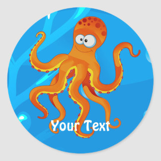 Ocean Aquatic Cute Octopus Custom Sticker