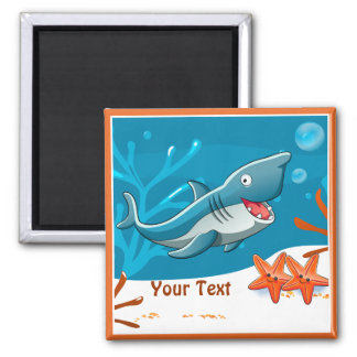Ocean Aquatic Cute Shark Custom Magnet