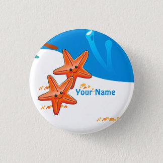 Ocean Aquatic Cute Starfish Custom Button