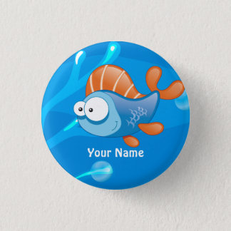 Ocean Aquatic Funny Fish Custom Button