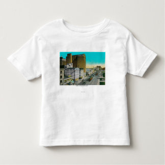 Ocean Avenue Looking East, Long Beach T-shirt