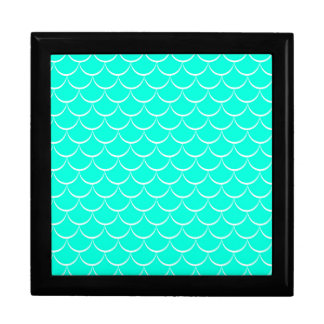 Ocean Background Large Square Gift Box