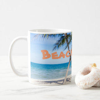 Ocean Beach and Palms Coffee Mug