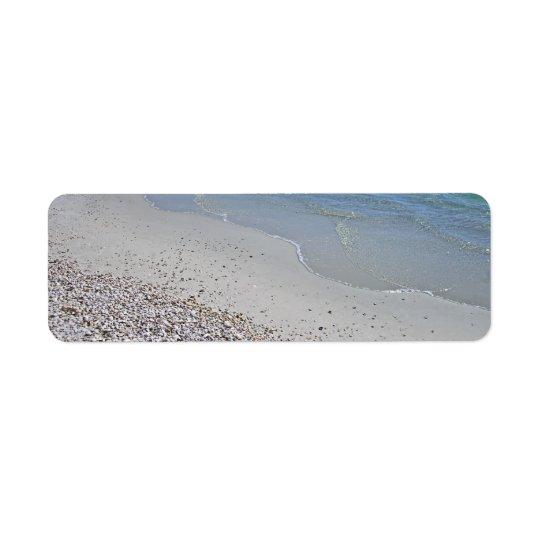 Ocean Beach and Shells Return Address Label