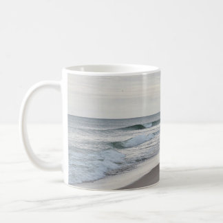 Ocean beach basic white mug