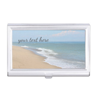 Ocean beach business card holder