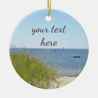 Ocean beach christmas ornament