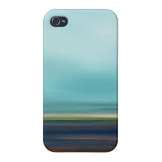 Ocean Beach Coast Sky Landscape in Blue Brown iPhone 4/4S Cases