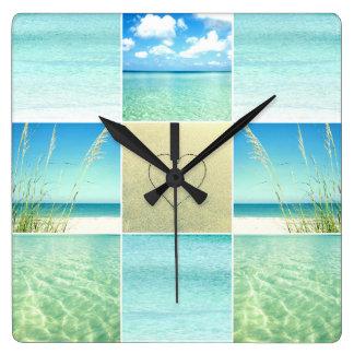 Ocean Beach Collage Wall Clock