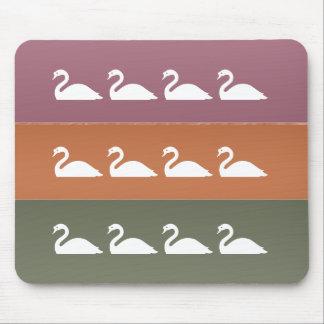 Ocean Beach : Cute Swan Birds Mouse Pad