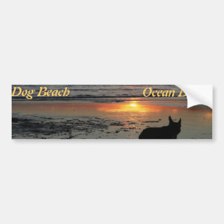 Ocean Beach, dog beach bumper sticker